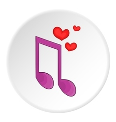 Love song icon cartoon style vector