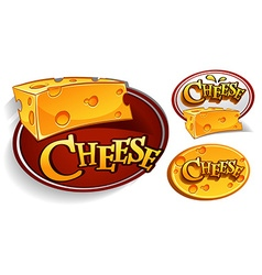 Logo designs with cheese vector image