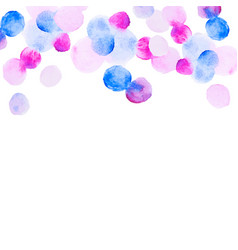 abstract colorfull handdrawn watercolor background vector image