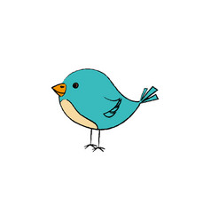 cute little bird icon vector image