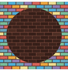 Rainbow bricks vector