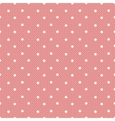 Pink dotted lacy seamless pattern vector