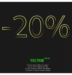 20 percent discount icon symbol Flat modern web vector image