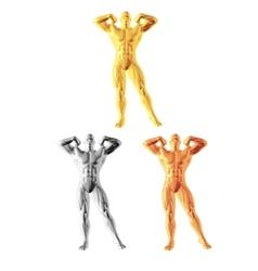 Abstract bodybuilder figure vector