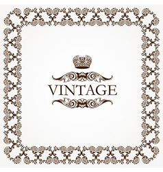 Vintage heraldic imperial frame vector image