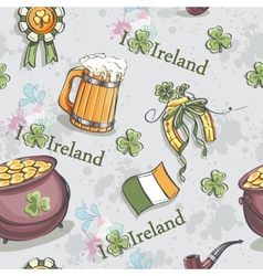 Seamless texture for st patricks day with a pot vector