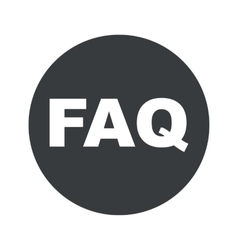 Monochrome round faq icon vector