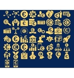 Euro Business Icons vector image