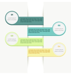 Colorful ribbon info graphic vector