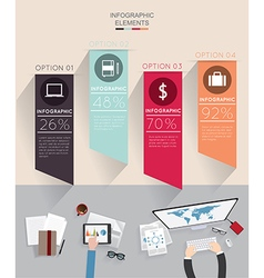 Modern infographic with business me vector