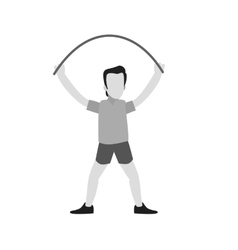 Person skipping rope vector