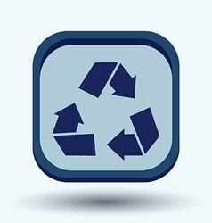 Recycle symbol environmental icon arrow vector