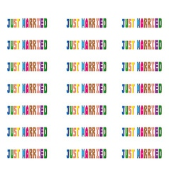 Just married colorful pattern vector
