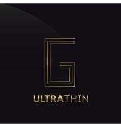 Ultrathin G Letter vector image