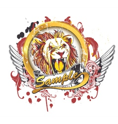 Vintage t-shirt design with lion vector