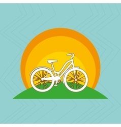Sport cycling design vector