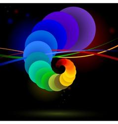 rainbow balls vector image