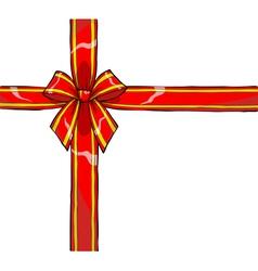 Gift ribbon and bow vector