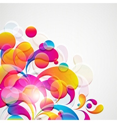Abstract background with bright circles and vector image vector image