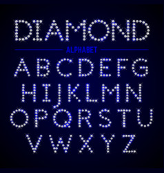 Alphabet letters from diamonds vector