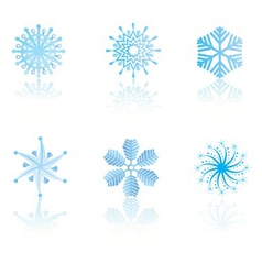 beautiful cold crystal gradient snowflakes vector image