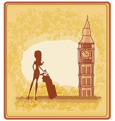 Beautiful woman in London vector image vector image