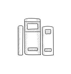 Books sketch icon vector image vector image