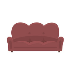brown vintage sofa or couch living room or office vector image vector image