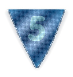Bunting flag number 5 vector