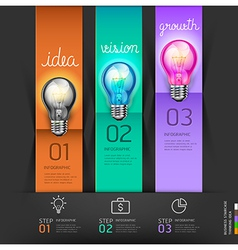 Business lightbulb stair thinking solution Idea vector image vector image