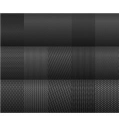 carbon and fiber backgrounds for texture design vector image