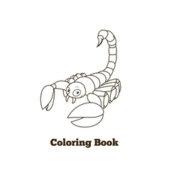 Coloring book elephant african animal cartoon vector