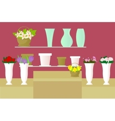 Flower shop vector
