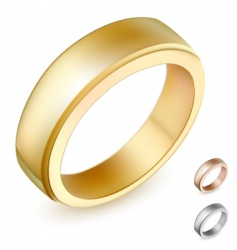 gold ring illustration vector image vector image