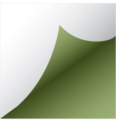 green paper sicker vector image