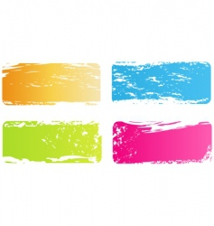 grunge multicolored banners vector image vector image