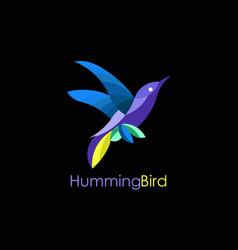 hummingbird logo vector image