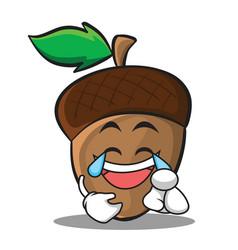 joy acorn cartoon character style vector image vector image