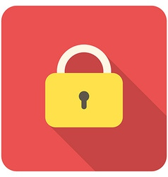 lock close icon vector image vector image