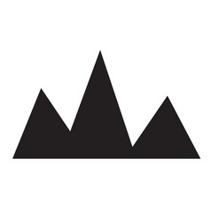 mountain icon on white background flat style vector image vector image