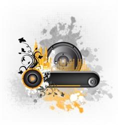music grunge frame vector image