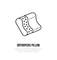 orthopedic pillow icon line logo flat sign for vector image vector image