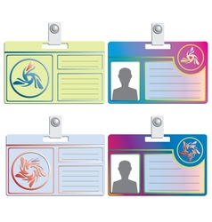 Personal card vector image vector image