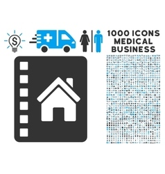 Realty catalog icon with 1000 medical business vector