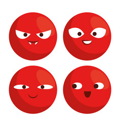 Red nose day with red nose clown faces vector