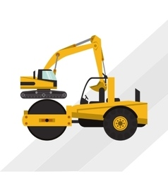 road roller graphic design editable graphic vector image