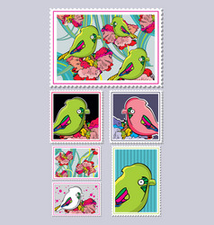stamps collection vector image