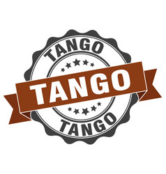 Tango stamp sign seal vector
