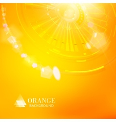 Technological background of orange cogwheel vector image vector image