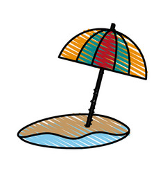 umbrella beach design vector image